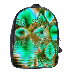 Spring Leaves, Abstract Crystal Flower Garden School Bag (Large)