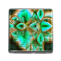 Spring Leaves, Abstract Crystal Flower Garden Memory Card Reader with Storage (Square)