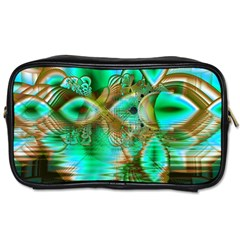 Spring Leaves, Abstract Crystal Flower Garden Travel Toiletry Bag (Two Sides)