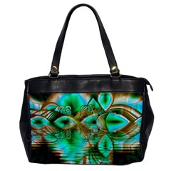 Spring Leaves, Abstract Crystal Flower Garden Oversize Office Handbag (one Side)