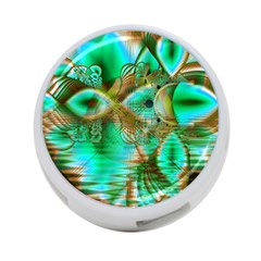 Spring Leaves, Abstract Crystal Flower Garden 4-Port USB Hub (Two Sides)