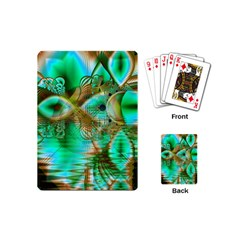 Spring Leaves, Abstract Crystal Flower Garden Playing Cards (Mini)