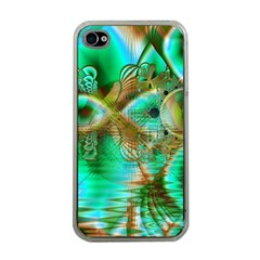 Spring Leaves, Abstract Crystal Flower Garden Apple Iphone 4 Case (clear)
