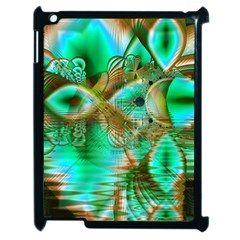 Spring Leaves, Abstract Crystal Flower Garden Apple Ipad 2 Case (black)