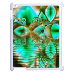 Spring Leaves, Abstract Crystal Flower Garden Apple Ipad 2 Case (white)