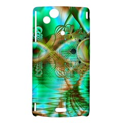 Spring Leaves, Abstract Crystal Flower Garden Sony Xperia Arc Hardshell Case