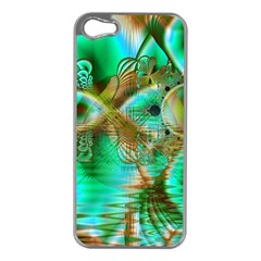 Spring Leaves, Abstract Crystal Flower Garden Apple iPhone 5 Case (Silver)