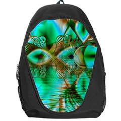 Spring Leaves, Abstract Crystal Flower Garden Backpack Bag