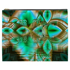 Spring Leaves, Abstract Crystal Flower Garden Cosmetic Bag (XXXL)