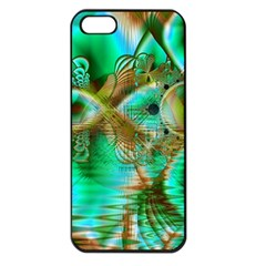 Spring Leaves, Abstract Crystal Flower Garden Apple Iphone 5 Seamless Case (black)