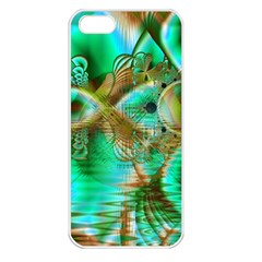 Spring Leaves, Abstract Crystal Flower Garden Apple Iphone 5 Seamless Case (white)
