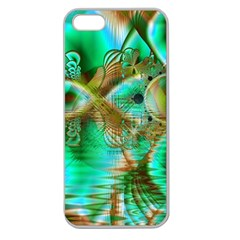 Spring Leaves, Abstract Crystal Flower Garden Apple Seamless Iphone 5 Case (clear)