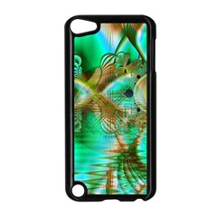 Spring Leaves, Abstract Crystal Flower Garden Apple Ipod Touch 5 Case (black)