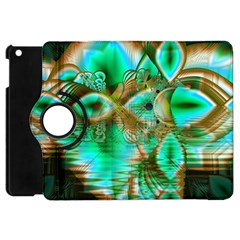 Spring Leaves, Abstract Crystal Flower Garden Apple iPad Mini Flip 360 Case