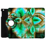 Spring Leaves, Abstract Crystal Flower Garden Apple iPad Mini Flip 360 Case Front