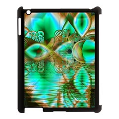 Spring Leaves, Abstract Crystal Flower Garden Apple iPad 3/4 Case (Black)