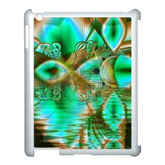 Spring Leaves, Abstract Crystal Flower Garden Apple iPad 3/4 Case (White)