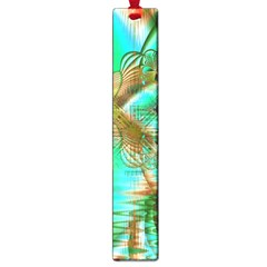 Spring Leaves, Abstract Crystal Flower Garden Large Bookmark