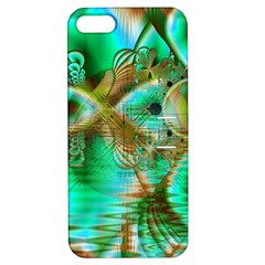 Spring Leaves, Abstract Crystal Flower Garden Apple Iphone 5 Hardshell Case With Stand