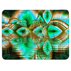 Spring Leaves, Abstract Crystal Flower Garden Samsung Galaxy Tab 7  P1000 Flip Case