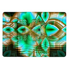 Spring Leaves, Abstract Crystal Flower Garden Samsung Galaxy Tab 10 1  P7500 Flip Case