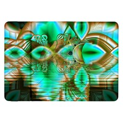 Spring Leaves, Abstract Crystal Flower Garden Samsung Galaxy Tab 8.9  P7300 Flip Case