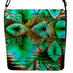 Spring Leaves, Abstract Crystal Flower Garden Flap Closure Messenger Bag (Small)