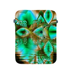 Spring Leaves, Abstract Crystal Flower Garden Apple iPad Protective Sleeve