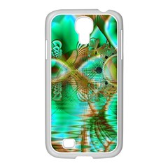 Spring Leaves, Abstract Crystal Flower Garden Samsung Galaxy S4 I9500/ I9505 Case (white)