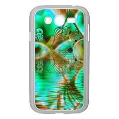 Spring Leaves, Abstract Crystal Flower Garden Samsung Galaxy Grand DUOS I9082 Case (White)