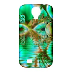 Spring Leaves, Abstract Crystal Flower Garden Samsung Galaxy S4 Classic Hardshell Case (pc+silicone)