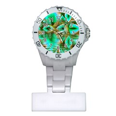 Spring Leaves, Abstract Crystal Flower Garden Nurses Watch