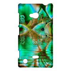 Spring Leaves, Abstract Crystal Flower Garden Nokia Lumia 720 Hardshell Case