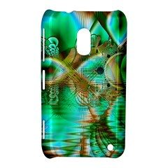 Spring Leaves, Abstract Crystal Flower Garden Nokia Lumia 620 Hardshell Case