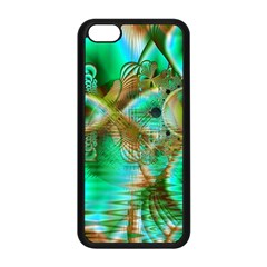Spring Leaves, Abstract Crystal Flower Garden Apple Iphone 5c Seamless Case (black)