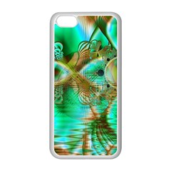 Spring Leaves, Abstract Crystal Flower Garden Apple iPhone 5C Seamless Case (White)