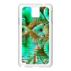 Spring Leaves, Abstract Crystal Flower Garden Samsung Galaxy Note 3 N9005 Case (White)