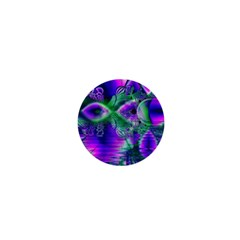 Evening Crystal Primrose, Abstract Night Flowers 1  Mini Button