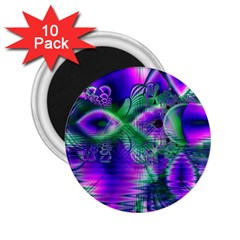 Evening Crystal Primrose, Abstract Night Flowers 2 25  Button Magnet (10 Pack)