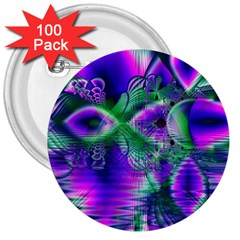 Evening Crystal Primrose, Abstract Night Flowers 3  Button (100 Pack)