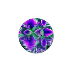 Evening Crystal Primrose, Abstract Night Flowers Golf Ball Marker 10 Pack
