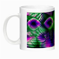 Evening Crystal Primrose, Abstract Night Flowers Glow in the Dark Mug