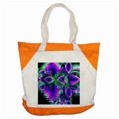 Evening Crystal Primrose, Abstract Night Flowers Accent Tote Bag