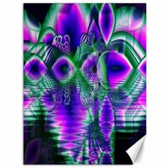 Evening Crystal Primrose, Abstract Night Flowers Canvas 36  x 48  (Unframed)