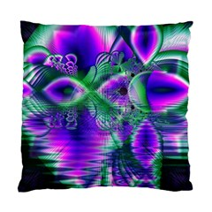 Evening Crystal Primrose, Abstract Night Flowers Cushion Case (Two Sided)