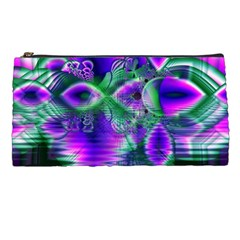 Evening Crystal Primrose, Abstract Night Flowers Pencil Case