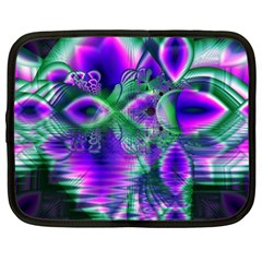 Evening Crystal Primrose, Abstract Night Flowers Netbook Sleeve (xl)