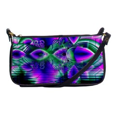 Evening Crystal Primrose, Abstract Night Flowers Evening Bag
