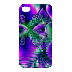 Evening Crystal Primrose, Abstract Night Flowers Apple Iphone 4/4s Hardshell Case