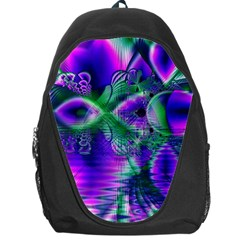 Evening Crystal Primrose, Abstract Night Flowers Backpack Bag